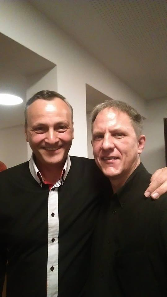Bernhard Hatterscheidt und ich bei einer seiner Lesungen im Oktober 2018